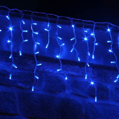 lights icicle outdoor 100 led blue icicle lights connectable for outdoor use