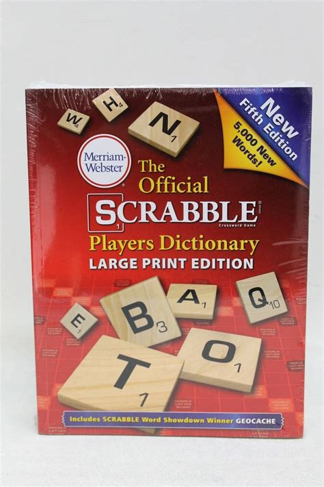 official scrabble dictionary new merriam webster the official scrabble players