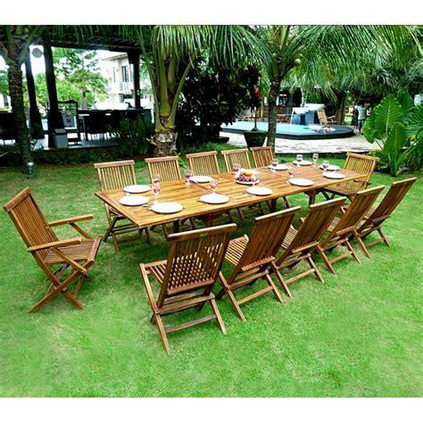 ensemble de jardin en teck huil 233 mobilier de jardin table 3 metres