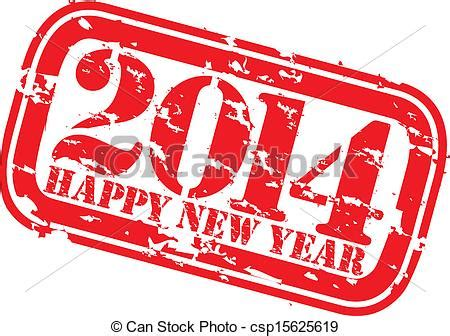 happy new year rubber st vector clip of grunge happy new 2014 year rubber st