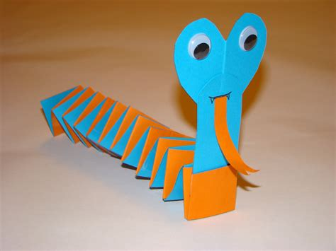paper snake craft paper snake 3 and a gluestick