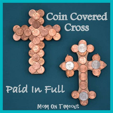 christian easter crafts for coin covered cross paid in easter craft on