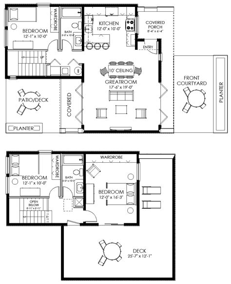 small house layout small house plan small contemporary house plan modern
