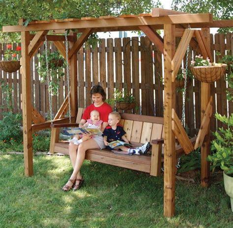 arbor swing plans free free swing arbor plans woodwork city