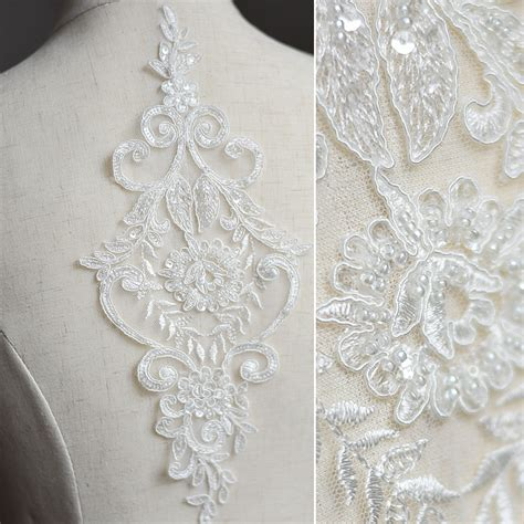 diy veil with beading 2017 bead sequins embroidery lace fabric wedding dress
