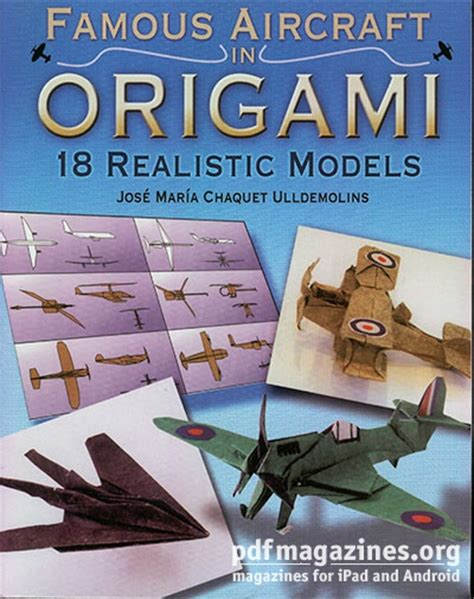 origami books free pdf aircraft in origami 18 realistic models 187 pdf