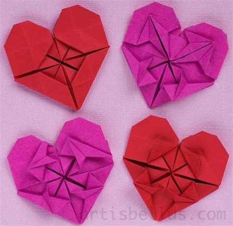 beautiful origami models s day hearts new origami models origami