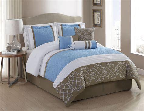 white blue comforter set 7 georgina blue white taupe comforter set