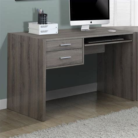 48 inch computer desk 48 quot computer desk in taupe i 7090