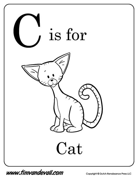 C Is For Cat Printable Tim S Printables
