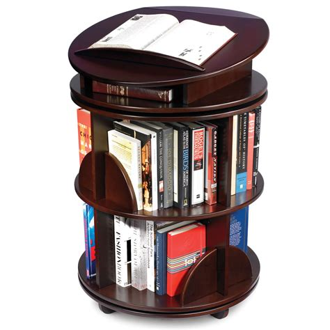 rotating bookshelves the rotating bookcase hammacher schlemmer