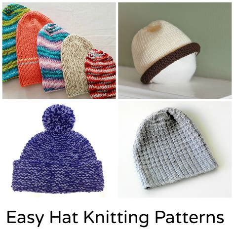 hat knitting patterns easy 12 and easy knit hat patterns