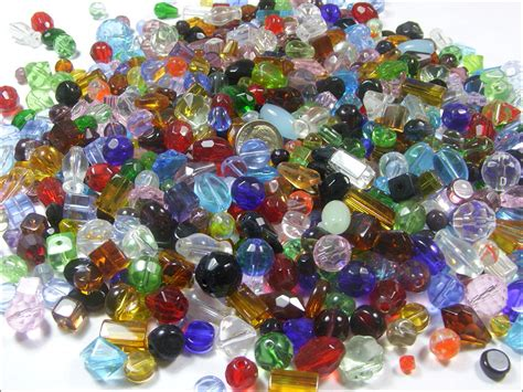 glass bead two pound assorted faceted glass lot 1100 pieces ebay