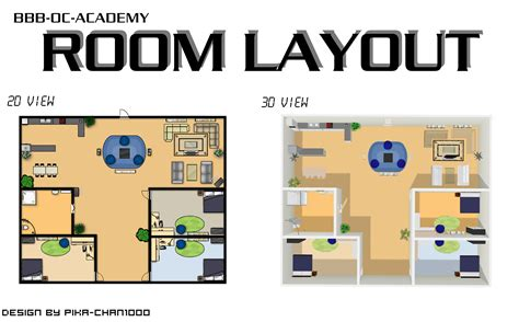 design room layout room layout 2d and 3d by nuazka on deviantart