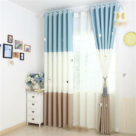 baby nursery curtains blue pattern sweet baby boy nursery curtains