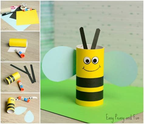 craft with toilet paper rolls toilet paper roll bee craft for easy peasy and