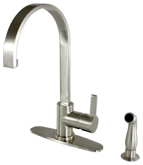 kitchen faucets contemporary contemporary continental satin nickel pull sprayer