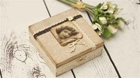 decoupage pictures decoupage vintage box decoupage tutorial by