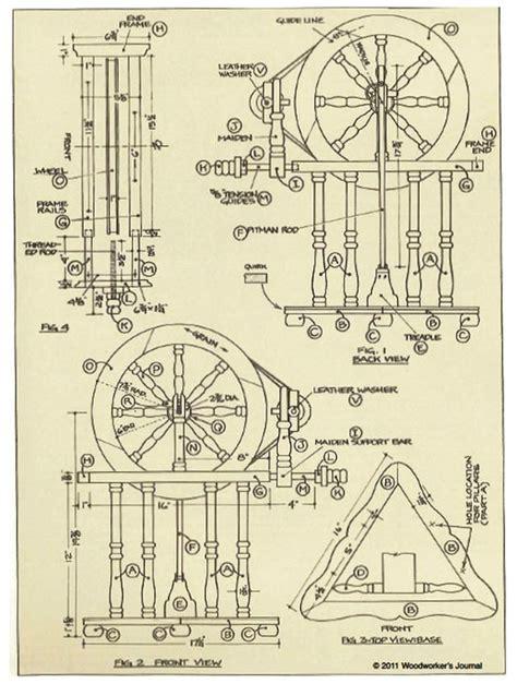 European Spinning Wheel Downloadable Plan Spinning