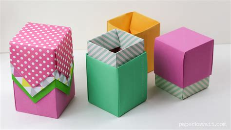 paper box origami with lid origami box with lid