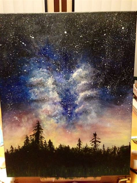acrylic painting a galaxy 1000 ideas about galaxy painting on paintings