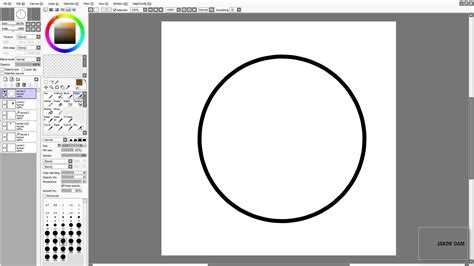 paint tool sai shapes sai beginner tutorial pen tool vector circles and hair