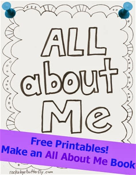 picture me book free printables for all about me www