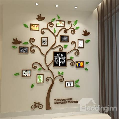 frame wall sticker 11 photo frame tree country style acrylic waterproof self