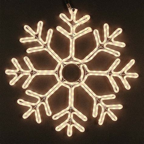 snowflake rope lights 24 quot deluxe rope light snowflake frosted white
