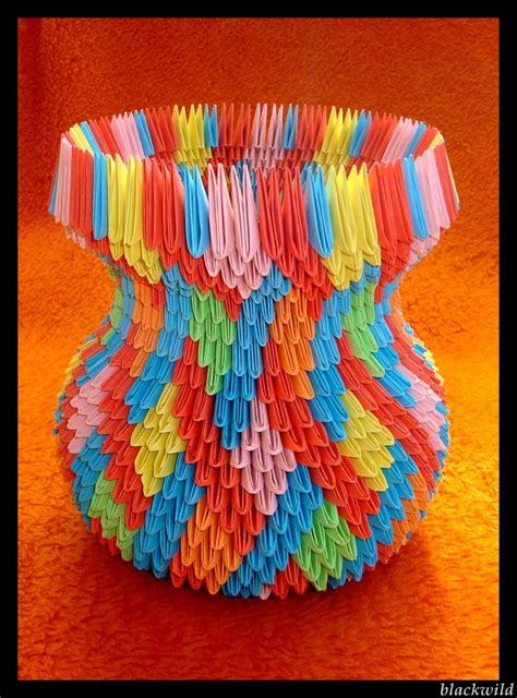 how to make 3d origami vase step by step origami vase with ear ver ii by blackwild on deviantart