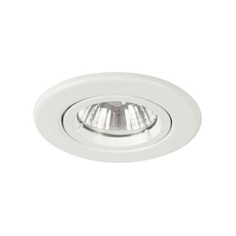mains lights mains voltage downlight in white finish dimmable