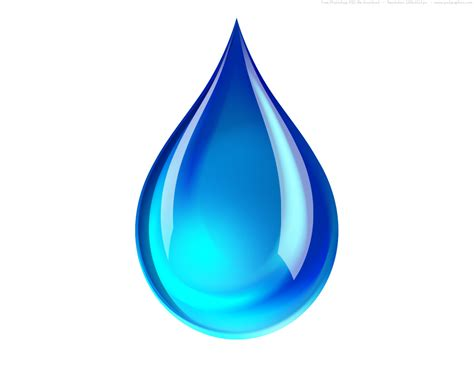 tear drop psd blue water droplet icon psdgraphics