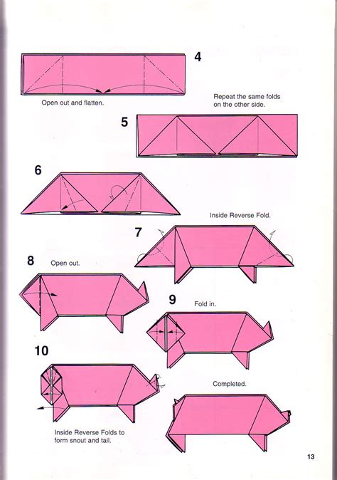really easy origami for simple pig origami 1 papes