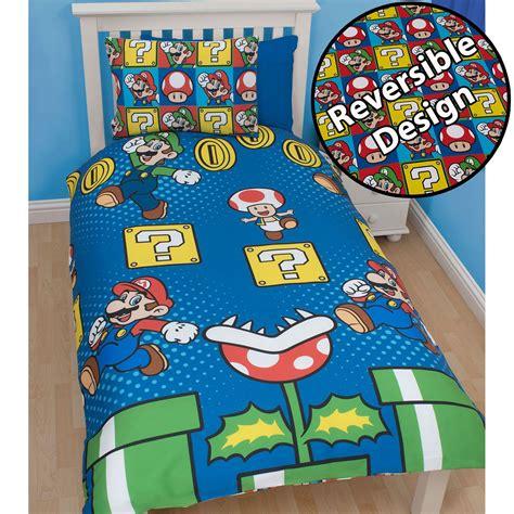 mario bedding set official nintendo mario brothers bedding duvet cover