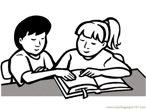 read colored read a book coloring page coloring home