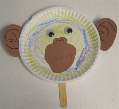 monkey paper plate craft 18 best birthday monkey theme images on