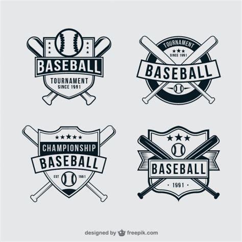 baseball badges vector free download