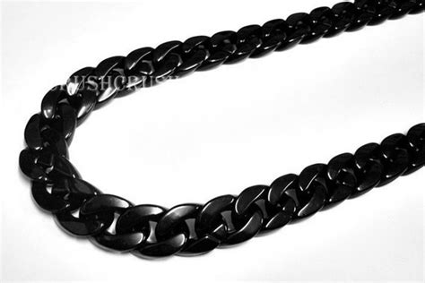 chain with black grade a black chunky chain plastic link necklace craft