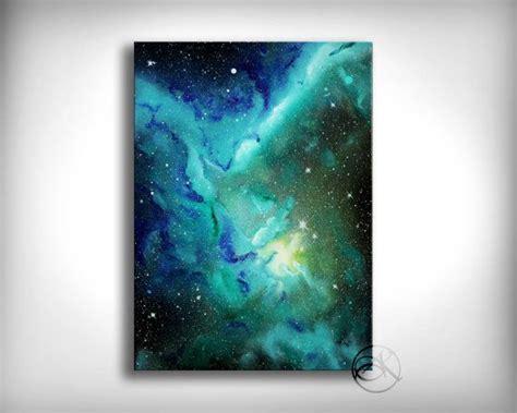 spray paint nebula space painting green nebula space spray paint
