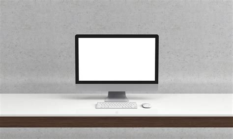 on office desk office imac on desk mockup mockupworld