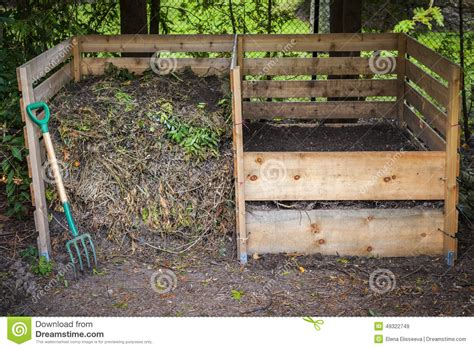 backyard compost bin backyard compost bins stock photo image 49322749
