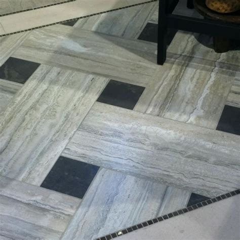 version of this with commerical vinyl tile instead of long narrow tiles two of lighter color