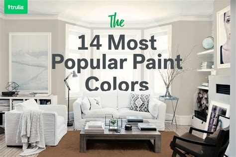 popular paint colors the 14 most popular paint colors they make a room look