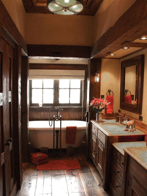 Rustic Themed Bathroom by Rustic Bathroom Decor Ideas Pictures Tips From Hgtv Hgtv