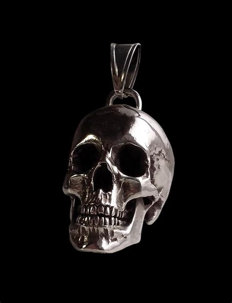 sterling silver skull wholesale sterling silver and heavy skull pendant 98 grams