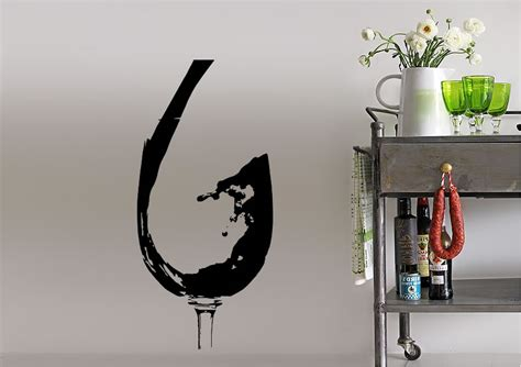 wine wall stickers pouring wine kitchen wall stickers adhesive wall sticker