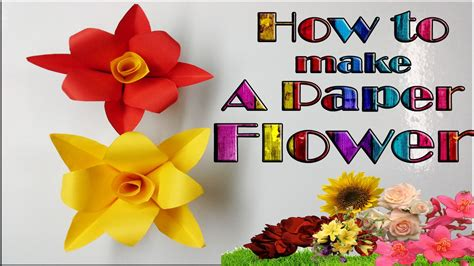 paper crafts how to make how to make a simple paper flower paper crafts diy
