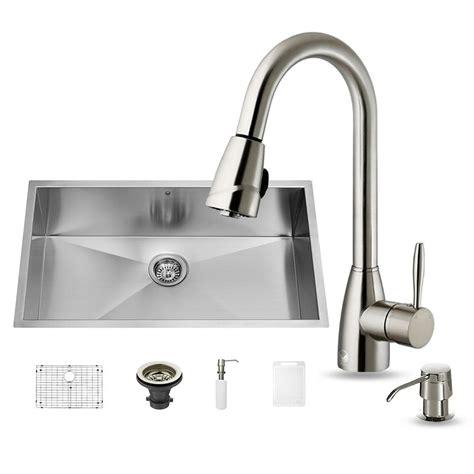 vigo kitchen sink reviews vigo all in one undermount stainless steel 32 in single