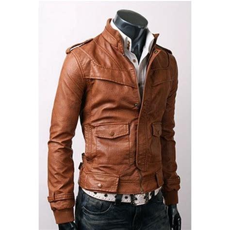mens light brown leather jacket slim fit light brown leather jacket s leather jackets biker leather jacket on luulla