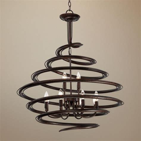 franklin iron works bronze 30 3 4 quot wide swirl chandelier